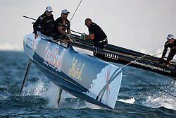 Official Practice day, 20th of February. Extreme Sailing Series, Act 1, Muscat, Oman (20 - 24 Februari 2011) © Sander van der Borch / Artemis Racing