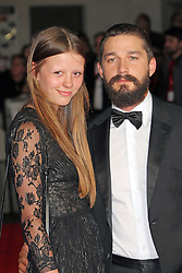 © Licensed to London News Pictures. 19/10/2014, UK. Mia Goth, Shia LaBeouf, Fury - BFI London Film Festival closing film, Leicester Square, London UK, 19 October 2014. Photo credit : Richard Goldschmidt/Piqtured/LNP