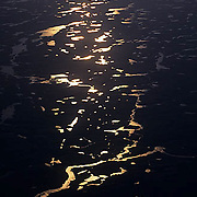 Northwest Territories, known as Nunuvat, Canada. Aerial view of the inland lakes.