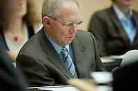 18 DEC 2009, BERLIN/GERMANY:<br /> Wolfgang Schaeuble, CDU, Bundesfinanzminister, Sitzung des Bundesrates mit Debatte ueber das Steuerpaket / Konjunkturpaket der Bundesregierung, Plenarsaal, Bundesrat<br /> IMAGE: 20091218-01-022<br /> KEYWORDS: Wolfgang Schäuble