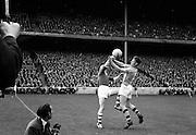 19/08/1962<br /> 08/19/1962<br /> 19 August 1962<br /> All Ireland Football Semi Final: Cavan v Roscommon at Croke Park, Dublin. C. Smith (Cavan, left) and O. Moran (Roscommon) jump for possession.