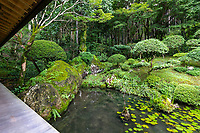 """Jodaiji is one of the Tosa Sanae garden in Kochi designated designated victory. Sagawa-cho is a castle town that once reigned by Ikuto Yamauchi and Mr. Fukao, and this garden """"Hisagoen"""" is an Ikesen appreciation garden, which was also built in that period early Edo period. The temple garden is adesignated place of beauty in Kochi Prefecture together with nearby Seigenji Temple garden."""