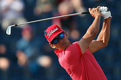 Spain's Rafael Cabrera-Bello tees off the 3rd during day one of The Open Championship 2018 at Carnoustie Golf Links, Angus. PRESS ASSOCIATION Photo. Picture date: Thursday July 19, 2018. See PA story GOLF Open. Photo credit should read: David Davies/PA Wire. RESTRICTIONS: Editorial use only. No commercial use. Still image use only. The Open Championship logo and clear link to The Open website (TheOpen.com) to be included on website publishing.