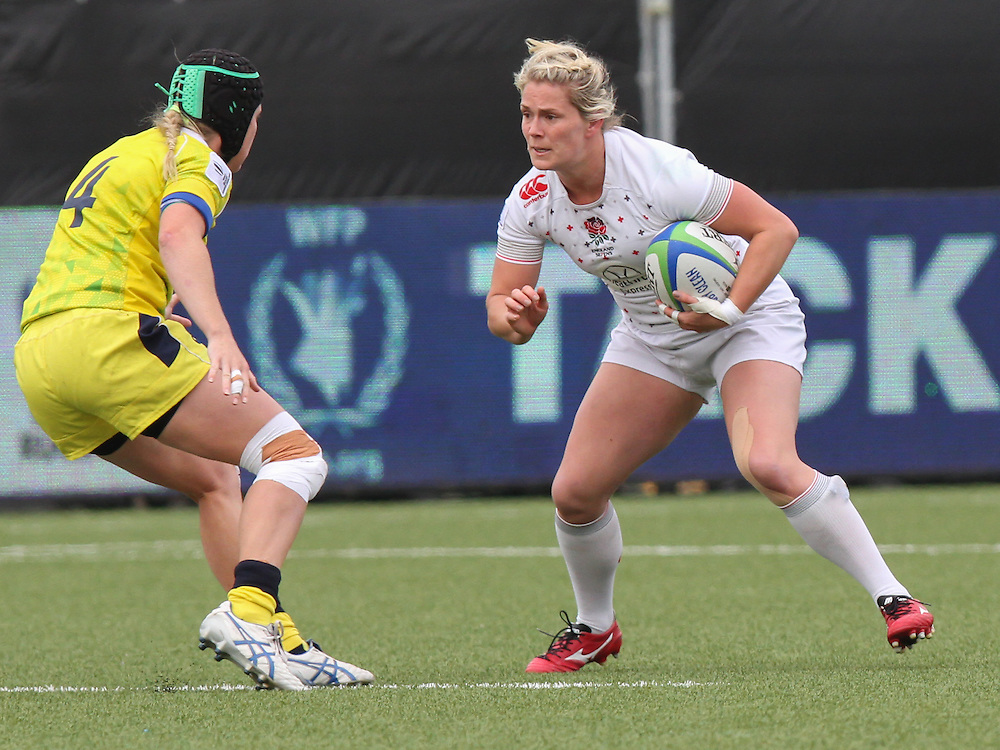 Rachael Burford in action for England, Women's Sevens World Series - Amsterdam Leg, NRCA, Amsterdam, Netherlands, Day 1 on 22nd May 2015.