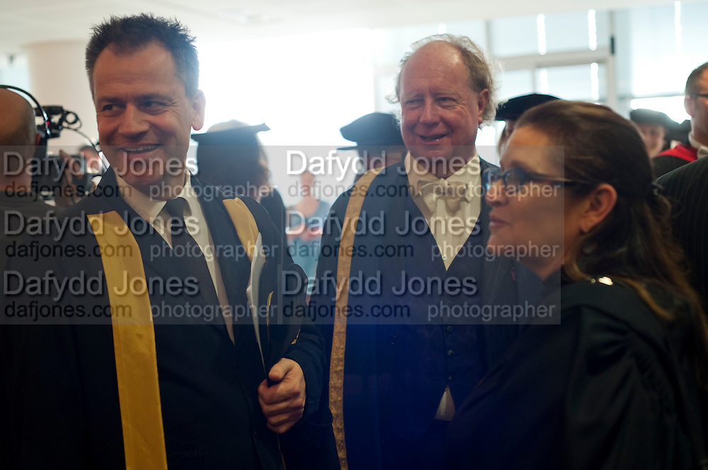 DEBBIE REYNOLDS; DAVID EAMES ESQUIRE BEDELL. Central School of Speech and Drama presents Honory Fellowships to Carrie Fisher, Bette Bourne, Joseph Selig and Helen Lannaghan. Royal Festival Hall. London. 12 December 2011.