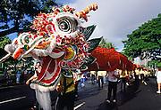 Worlds longest Chinese Dragon, Honolulu, Oahu, Hawaii