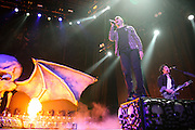 Avenged Sevenfold performing at Uproar Festival at Verizon Wireless Amphitheater in St. Louis on September 25, 2011. © Todd Owyoung.