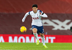 LIVERPOOL, ENGLAND - Wednesday, December 16, 2020: Tottenham Hotspur's Son Heung-min during the FA Premier League match between Liverpool FC and Tottenham Hotspur FC at Anfield. Liverpool won 2-1. (Pic by David Rawcliffe/Propaganda)