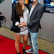 NLD/Amsterdam/20100818 - Premiere The Last Airbender 3D, Mounira Hadj Mansour (zwanger) en partner Alex