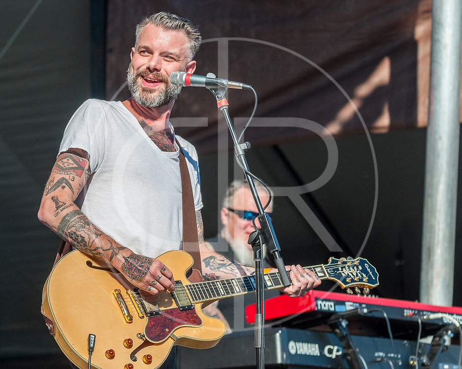 BALTIMORE United States - September 27, 2014: Ben Nichols of Lucero, performs at The Shindig, in Baltimore's historic Carroll Park