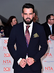 Ricky Rayment attending the National Television Awards 2018 held at the O2 Arena, London. PRESS ASSOCIATION Photo. Picture date: Tuesday January 23, 2018. See PA story SHOWBIZ NTAs. Photo credit should read: Matt Crossick/PA Wire