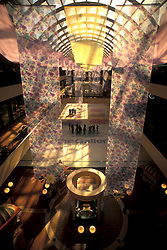 Stock photo of the interior of the Houston Galleria and its skating rink.