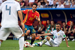 July 1, 2018 - Moscow, Russia - 180701 Isco of Spain and Alexander Samedov of Russia  during the FIFA World Cup round of 16 match between Spain and Russia on July 1, 2018 in Moscow..Photo: Petter Arvidson / BILDBYRÃ…N / kod PA / 92080 (Credit Image: © Petter Arvidson/Bildbyran via ZUMA Press)