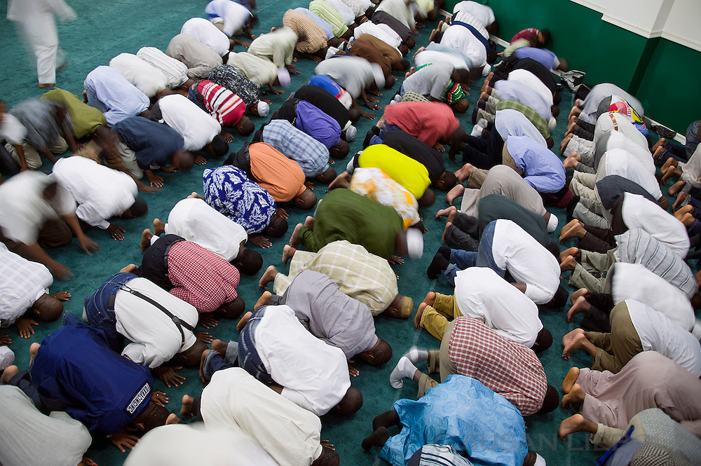 Imam Konate's mosque in Harlem during prayer time.