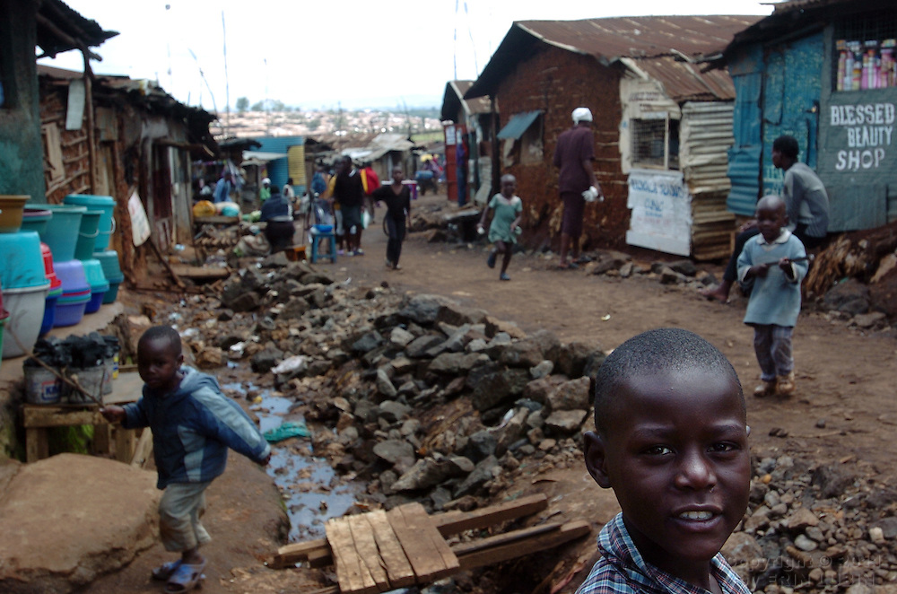 Kibera slum, Nairobi, Kenya, November, 2006..Photo by Erin Lubin