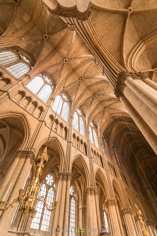 Ceiling in Cathedral of Notre-Dame in Reims, France