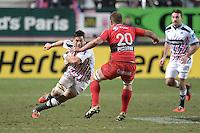 Raphael Lakafia - 28.12.2014 - Stade Francais / Racing Club Toulon - 14eme journŽe de Top 14<br />Photo : Aurelien Meunier / Icon Sport