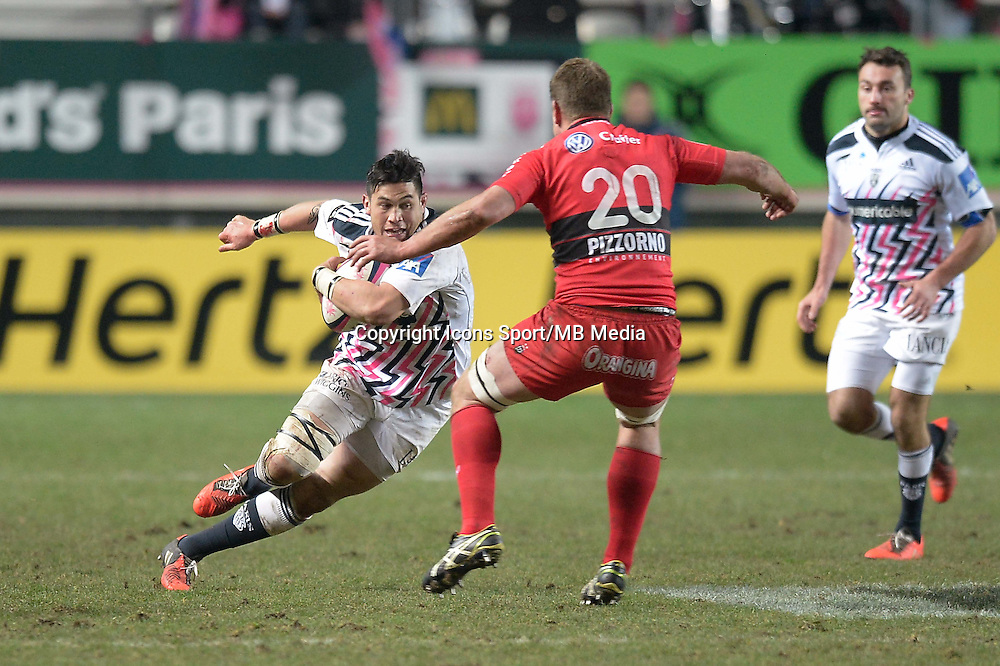 Raphael Lakafia - 28.12.2014 - Stade Francais / Racing Club Toulon - 14eme journŽe de Top 14<br />