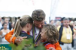 i Dubbeldam Jeroen, Dubbeldam Nina, Dubbeldam Chris Gold medal winner<br /> Individual Final Competition round 2<br /> FEI European Championships - Aachen 2015<br /> © Hippo Foto - Dirk Caremans<br /> 23/08/15