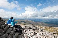 On the summit of Cairn Gorm Mountain, Cairngorms national park, Scotland © Rudolf Abraham