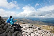 On the summit of Cairn Gorm Mountain, Cairngorms national park, Scotland © Rudolf Abraham