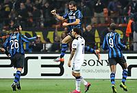 L'esultanza di Dejan Stankovic  (Inter) per il gol del 3-0<br /> Inter player Dejan Stankovic celebrates his 3-0 leading goal<br /> Inter Tottenham - UEFA Champions League 2010-2011<br /> Stadio San Siro, Milano, 20/10/2010<br /> © Giorgio Perottino / Insidefoto