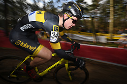 February 10, 2018 - Lille, BELGIUM - Belgian Andreas Goeman pictured in action during the U23 race of the Krawatencross cyclocross in Lille, the eighth and last stage in the DVV Verzekeringen Trofee Cyclocross competition, Saturday 10 February 2018. BELGA PHOTO DAVID STOCKMAN (Credit Image: © David Stockman/Belga via ZUMA Press)
