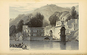 The Principal Gaut At Hurdwar [Haridwar is a city and municipal corporation in Haridwar district of Uttarakhand, India.] From the book ' The Oriental annual, or, Scenes in India ' by the Rev. Hobart Caunter Published by Edward Bull, London 1834 engravings from drawings by William Daniell