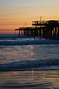 Pier at sunset at Pismo Beach