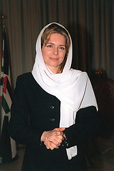 Queen Noor of Jordan seen during King Hussein's funeral at the Royal palace in Amman, Jordan on February 8, 1999. Twenty years ago, end of January and early February 1999, the Kingdom of Jordan witnessed a change of power as the late King Hussein came back from the United States of America to change his Crown Prince, only two weeks before he passed away. Photo by Balkis Press/ABACAPRESS.COM