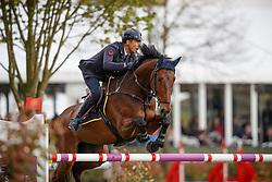 Bicocchi Emilio, ITA, Sassicaia Ares<br /> FEI Nations Cup of Belgium<br /> CSIO Lummen 2017<br /> © Hippo Foto - Dirk Caremans<br /> 28/04/2017