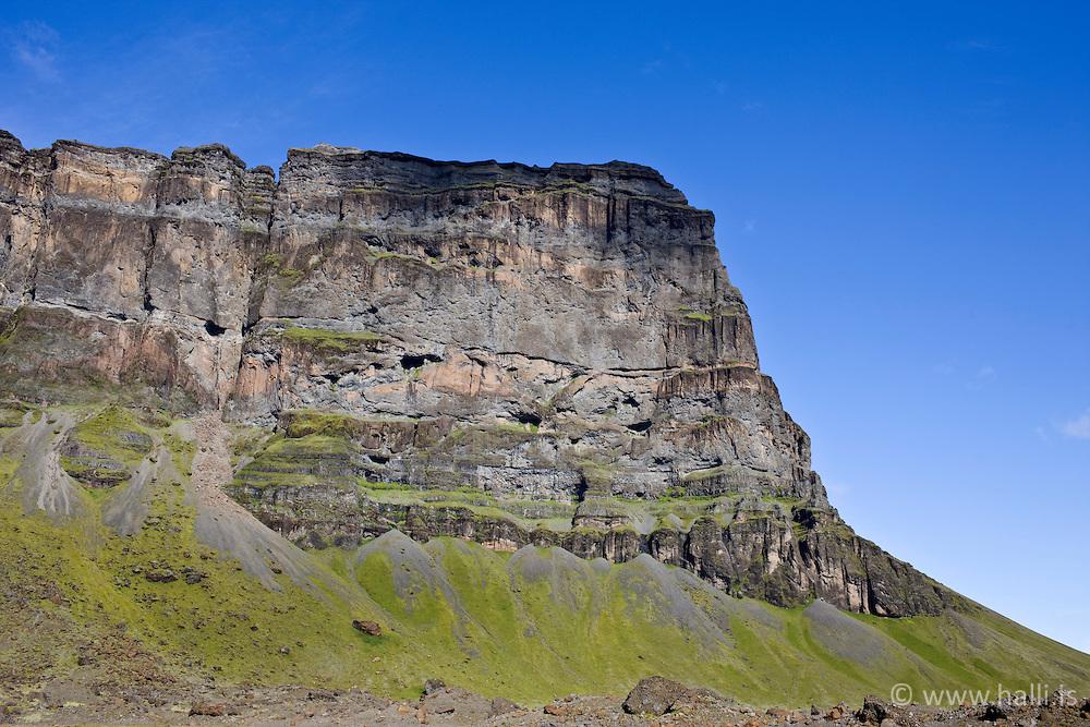 The mountain Lomagnupur, south east of Iceland - Lómagnúpur
