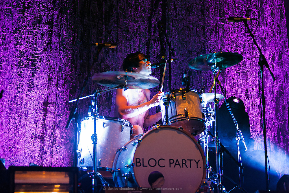 """Matt Tong of Bloc Party performs on January 22, 2013 in support of """"Four"""" at the Ogden Theater in Denver, Colorado"""