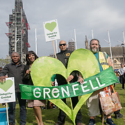 Grenfell United Survivors ahead of Parliamentary Debate Rally in London, UK