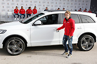 Modric participates and receives new Audi during the presentation of Real Madrid's new cars made by Audi in Madrid. December 01, 2014. (ALTERPHOTOS/Caro Marin)