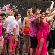 NLD/Amsterdam/20190803 - Gaypride 2019, Louisa Jansen en partner Rowena