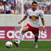 Brandon Barklage, New York Red Bulls, in action during the New York Red Bulls V Chicago Fire Major League Soccer regular season match at Red Bull Arena, Harrison. New Jersey. USA. 6th October 2012. Photo Tim Clayton