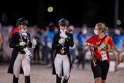 Von Bredow-Werndl Jessica, GER, Werth Isabell, GER<br /> Olympic Games Tokyo 2021<br /> © Hippo Foto - Dirk Caremans<br /> 28/07/2021