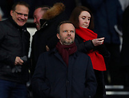 Ed Woodward Chief Executive of Manchester United takes his seat in the directors box during the FA Cup match at the Pride Park Stadium, Derby. Picture date: 5th March 2020. Picture credit should read: Darren Staples/Sportimage