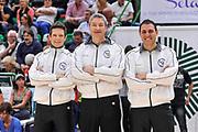 DESCRIZIONE : Campionato 2014/15 Dinamo Banco di Sardegna Sassari - Umana Reyer Venezia<br /> GIOCATORE : Guido Federico Di Francesco Luigi LaMonica Beniamino Manuel Attard<br /> CATEGORIA : Arbitro Referee Before Pregame<br /> SQUADRA : AIAP<br /> EVENTO : LegaBasket Serie A Beko 2014/2015<br /> GARA : Dinamo Banco di Sardegna Sassari - Umana Reyer Venezia<br /> DATA : 03/05/2015<br /> SPORT : Pallacanestro <br /> AUTORE : Agenzia Ciamillo-Castoria/L.Canu