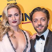 NLD/Scheveningen/20161030 - Premiere musical The Lion King, Michelle Splietelhof en partner Tommie Christiaan