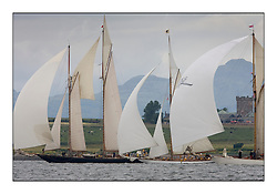 Mariette 1915 Gaff Schooner, The Lady Anne 1912 and Moonbeam III 1903 Gaff Cutter  off Roseneath castle...Overcast day for sailors heading south from Rhu to Rothesay...* The Fife Yachts are one of the world's most prestigious group of Classic .yachts and this will be the third private regatta following the success of the 98, .and 03 events.  .A pilgrimage to their birthplace of these historic yachts, the 'Stradivarius' of .sail, from Scotland's pre-eminent yacht designer and builder, William Fife III, .on the Clyde 20th -27th June.   . ..More information is available on the website: www.fiferegatta.com . .Press office contact: 01475 689100         Lynda Melvin or Paul Jeffes