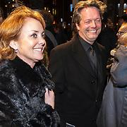 NLD/Amsterdam/20150306 - Boekenbal 2015, Guido den Aantrekker en partner