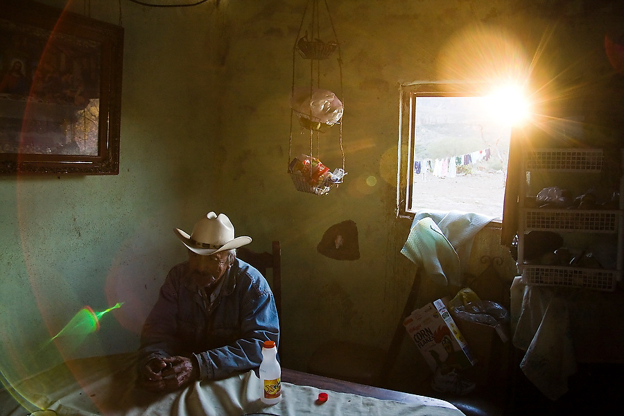 INAH (Instituto Nacional de Antropologia e Historia) custodian Enrique Arce sits at his home in San Francisco de la Sierra, Baja California Sur, Mexico on January 30, 2009. All trips to the cave painting sites in the area, designated as a UNESCO World Heritage site, must be arranged through Arce.