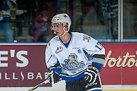 KELOWNA, CANADA - OCTOBER 26: Tyler Soy #17 of the Victoria Royals warms up against the Kelowna Rockets on October 26, 2016 at Prospera Place in Kelowna, British Columbia, Canada.  (Photo by Marissa Baecker/Shoot the Breeze)  *** Local Caption ***