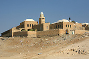 Israel, West Bank, Judaea Desert, An arabic stracture at the edge of the Judea desert.