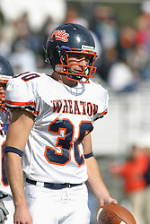 22 October 2005: Thunder Safety Todd Travis. The Illinois Wesleyan Titans posted a 23 - 14 home win by squeeking past the Thunder of Wheaton College at Wilder Field (the 5th oldest collegiate field in the US) on the campus of Illinois Wesleyan University in Bloomington IL