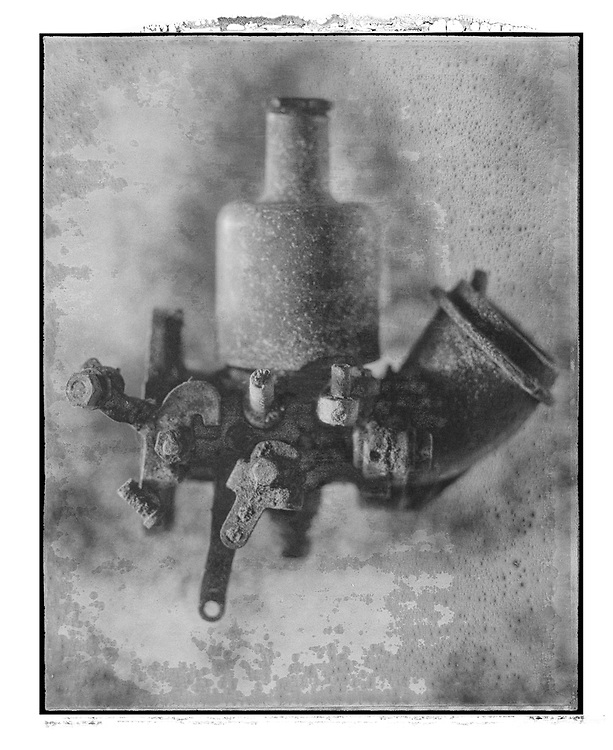Solaroid - Metal Morphosing - SU Carburettor 2 - This is a solarised polaroid photo art print by Paul Williams who invented the technique and is the only photographer to have used it. The process is sadly no longer possible. Circa 1989, .<br /> <br /> Visit our FINE ART PHOTO  PRINT COLLECTIONS for more wall art photos to browse https://funkystock.photoshelter.com/gallery-collection/Fine-Art-Photo-Prints-by-Photographer-Paul-Williams/C0000UM829OLMVv8 .