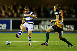 Bath Fly-Half George Ford kicks - mandatory by-line: Rogan Thomson/JMP - Tel: 07966 386802 - 23/05/2014 - SPORT - RUGBY UNION - Cardiff Arms Park, Wales - Bath Rugby v Northampton Saints - Amlin Challenge Cup Final.