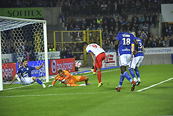 October 19, 2018 - Strasbourg, France - But refuse pour FalcaoThierry Henry As Monaco (Credit Image: © Panoramic via ZUMA Press)